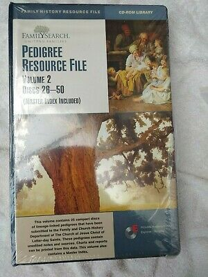 PEDIGREE RESOURCE FILE Volume 2 Family Search Discs 26-50 Master Index Included • 5£