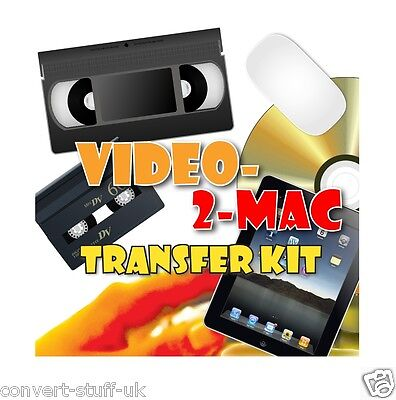 Copy / Transfer VHS & Camcorder Video Tapes To Mac OS Catalina / Big Sur MP4 DVD • 39.95£