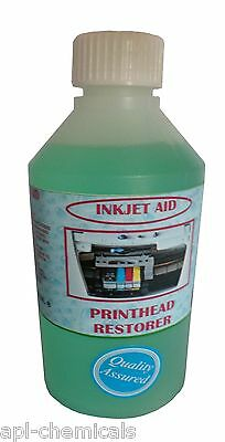 INKJET CARTRIDGE CLEANER  RESTORER Large 500ml Printer Ink Blockage Cleaner . • 14.99£