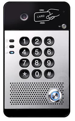 VoIP Video Door Entry System With Single Button, Keypad And Fob/RFID Reader • 229.99£