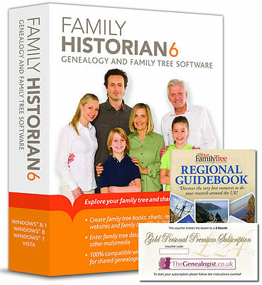 Family Historian Version 6 Genealogy Software + Free Book & Online Subscription • 36.85£