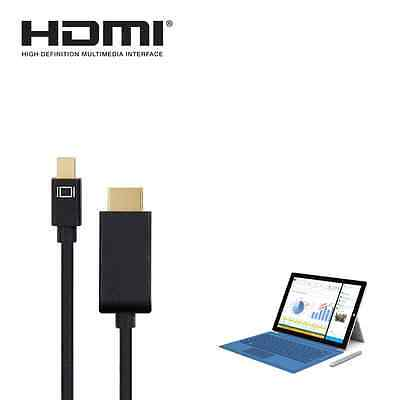 Microsoft Surface Pro 2,3,4 Mini DisplayPort(DP)to HDMI 4K TV Monitor 3m Cable • 19.94£