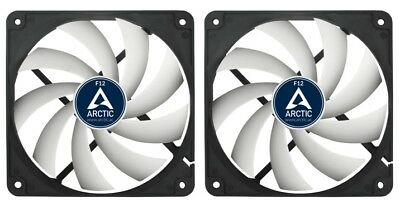 2 X Pack Of Arctic Cooling F12 120mm 12cm PC Case Fan, 1350 RPM, 53CFM, 3 Pin • 13.97£