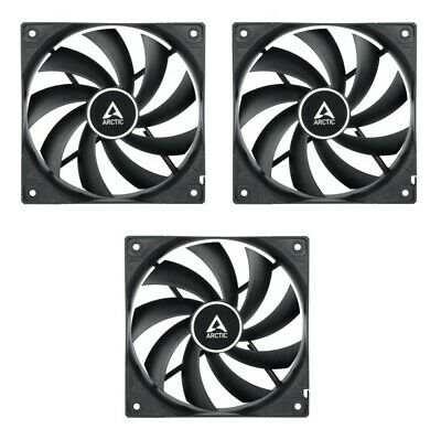 3 X Pack Of Arctic Cooling F12 PWM 120mm 12cm PC Case Fan, 4 Pin PWM, 53CFM • 19.97£