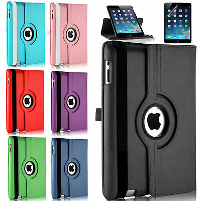 Leather Rotate Folding Case Swivel Stand Cover For Apple IPad 4 3 2 4th 3rd Gen • 4.89£