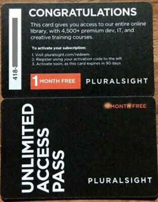 Pluralsight Personal Membership (1 Month) (ONE Month) • 19.99£