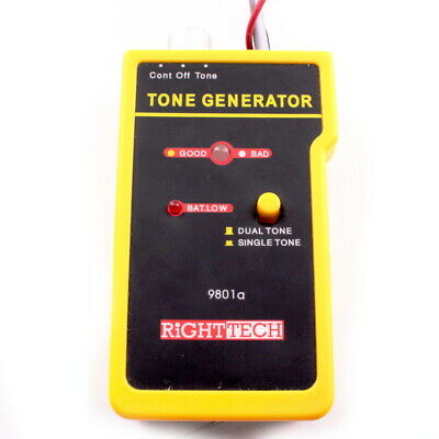 RightTec Tone Generator & Cable Probe Tracer Network Tester Kit 9801a - Used • 57.49£