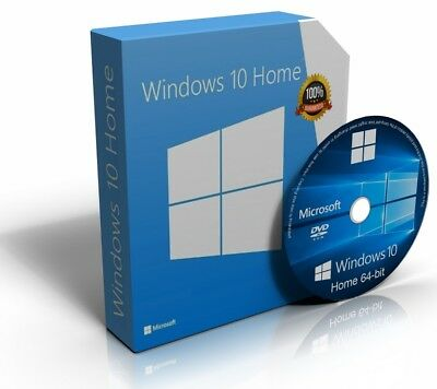 Windows 10 Home 64 Bit Re-Install Restore Repair Recovery Boot Disc Recovery DVD • 4.49£