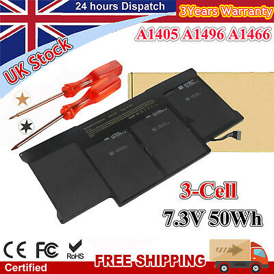 A1405 Battery For Apple Macbook Air 13  A1369(Late 2010 Mid 2011) A1466 Mid 2012 • 25.99£