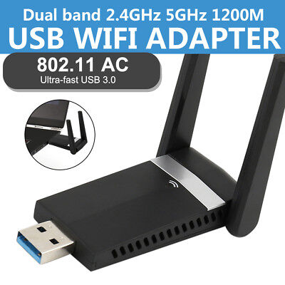 1200Mbps WIFI Dongle Wireless Adapter USB 3.0 Dual Bands Antenna For Laptop PC • 13.79£