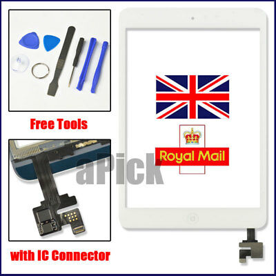 White Screen For IPad Mini 1 2 Touch Glass Digitizer Replacement IC Home Button • 11.92£
