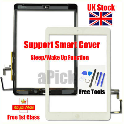 For IPad 5 Air 1 A1474 A1475 A1476 White Touch Screen Replacement Digitizer Tool • 10.92£