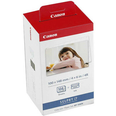 Canon KP-108IN Ink Cartridge & 108 X 4 X6  Photo Paper Pack For Selphy CP-910 • 22.98£