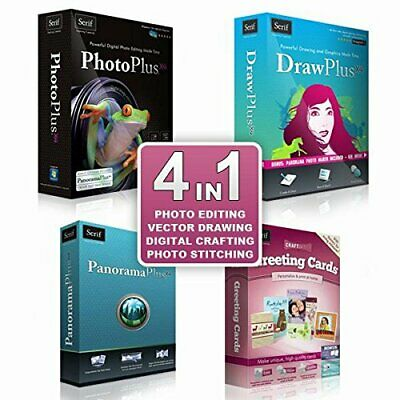 Serif 4 In 1 Image/Photo Editing Software For Windows XP/Vista/7/8/10 + Keys • 7.95£