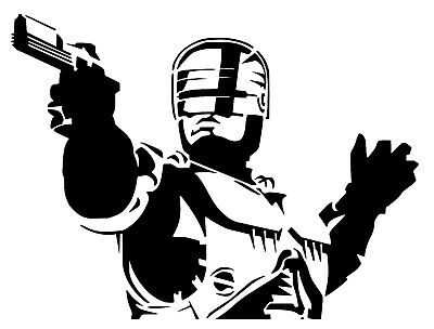 Robocop Vinyl Decal / Sticker • 3.59£