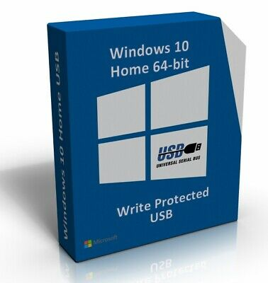Windows 10 Home 64 Bit Re-Install Restore Repair Recovery Boot Disc Recovery USB • 9.99£