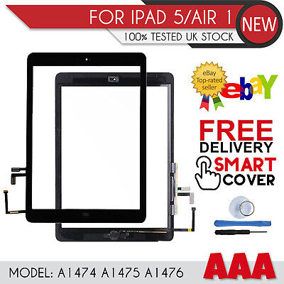 For IPad Air 1 A1474 A1475 A1476 Digitizer Touch Screen Replacement Black OEM IC • 14.25£