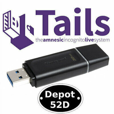 Tails 4.7 Linux Anonymous Browsing On Bootable 16GB USB 3.0 Flash Drive • 8.95£