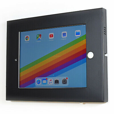 Metal Anti Theft Tablet Wall Mount Secure Enclosure For IPad 9.7 Black TAW97L01B • 16.45£