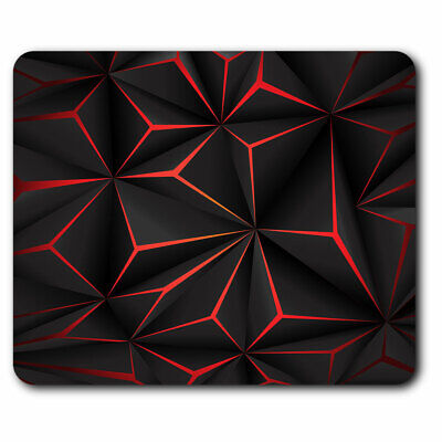 Computer Mouse Mat - Cool Black & Red Futuristic Office Gift #12953 • 5.99£