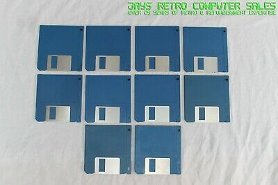 10x 3.5  BLANK DOUBLE SIDED FLOPPY DISKS DS DD FORMATTED ATARI ST NO LABELS • 14.99£