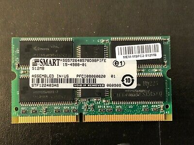 Cisco 512MB 15-4988-01 PC100 ECC SODIMM Memory RAM MEM-MSFC2-512MB UK VAT  • 5.99£