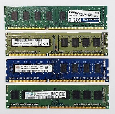 DDR3 Desktop PC RAM - 4GB / 8GB - 1333 / 1600MHz - Memory DIMM 240pin PC3 12800 • 24.99£
