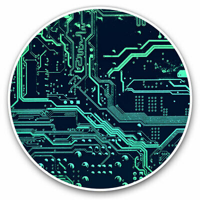 2 X Vinyl Stickers 7.5cm - Computer Chip Motherboard Gamer Cool Gift #16892 • 1.99£