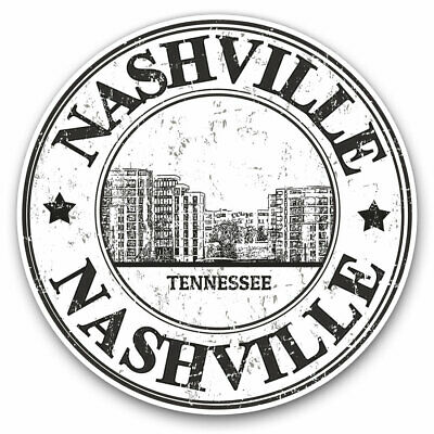 2 X Vinyl Stickers 7.5cm - Nashville Tennessee United States USA Cool Gift #4773 • 2.49£
