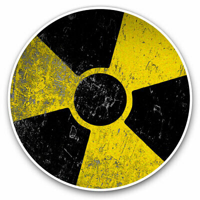 2 X Vinyl Stickers 7.5cm - Radioactive? Warning Nuclear Chernobyl Cool Gift #895 • 2.49£