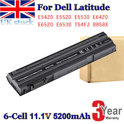 E6440 E5420 E6430 T54FJ M5Y0X E6420 E6520 Battery For For Dell Latitude Laptop • 17.99£