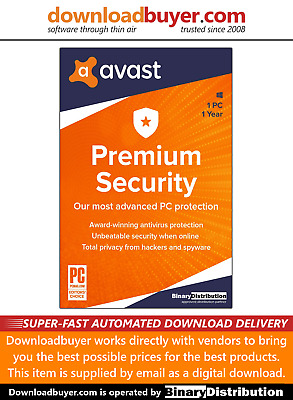 Avast Premium Security 2020 - 1PC - 1 Year - [Download] • 9.99£
