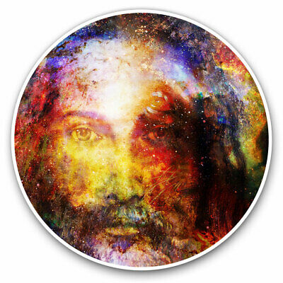 2 X Vinyl Stickers 10cm - Amazing Watercolour Jesus Awesome Cool Gift #8451 • 2.49£