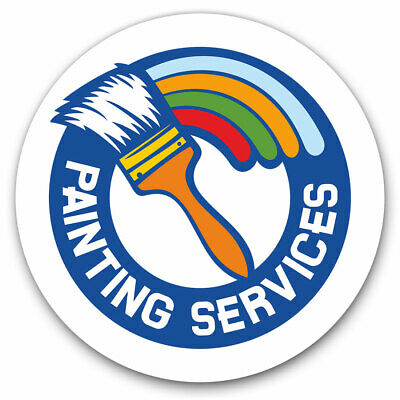 2 X Vinyl Stickers 20cm - Painting Services Logo Paint Brush Cool Gift #7318 • 4.99£