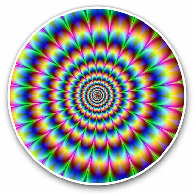2 X Vinyl Stickers 30cm - Psychedelic Pattern Rainbow Cool Gift #8946 • 8.99£