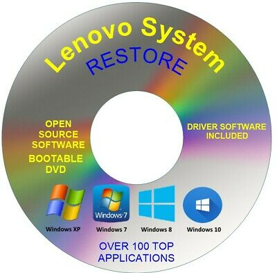 Lenovo System Recovery Boot Repair Restore DVD Disc Windows 10 8 7 Vista XP • 1.99£