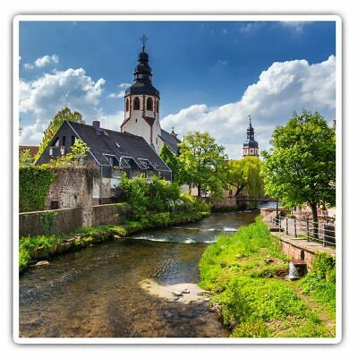 2 X Square Stickers 7.5 Cm - Black Forest Germany Europe Cool Gift #3112 • 2.49£