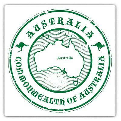 2 X Square Stickers 7.5 Cm - Cool Australia Map Cool Gift #4210 • 2.49£