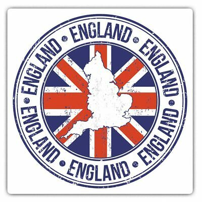2 X Square Stickers 7.5 Cm - England Britain Map Flag Britain Cool Gift #5551 • 2.49£