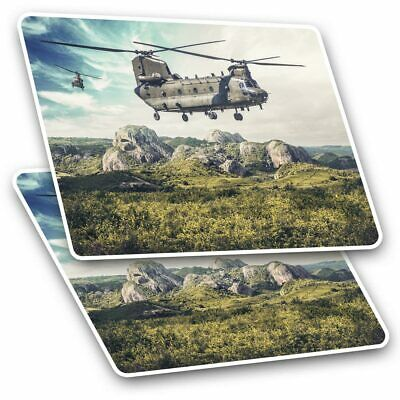 2 X Rectangle Stickers 7.5 Cm - Chinook Helicopter Military RAF Cool Gift #15542 • 2.49£