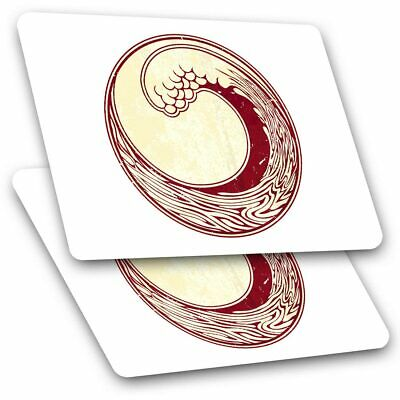 2 X Rectangle Stickers 7.5 Cm - Japanese Wave Of Kanagawa Surf Cool Gift #5858 • 2.49£