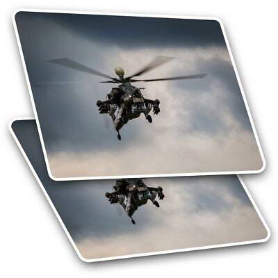 2 X Rectangle Stickers 10 Cm - Helicopter Military Aircraft #16265 • 2.49£