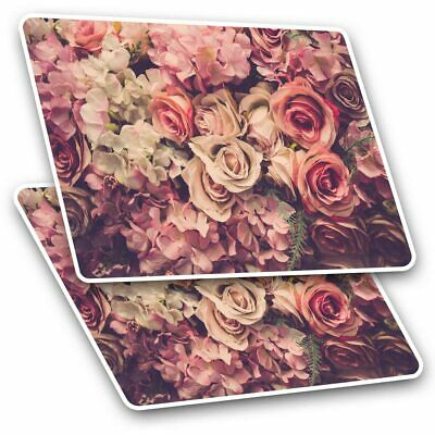 2 X Rectangle Stickers 10 Cm - Beautiful Roses Rose Flower #2446 • 2.49£
