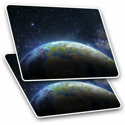 2 X Rectangle Stickers 10 Cm - Planet Earth From Space Solar System #8352 • 2.49£