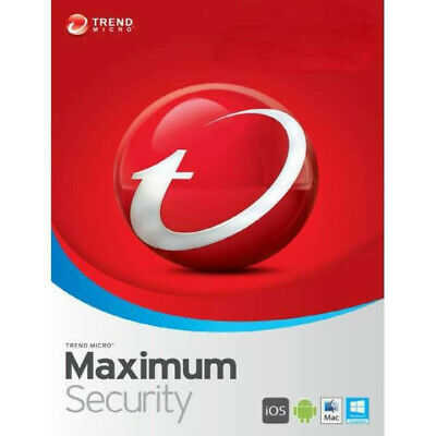 Trend Micro Maximum Security 2020 1 Year 3 Devices Global Key Instant Delivery • 1.99£