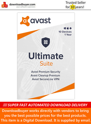 Avast Ultimate Suite 2020 - 10 Devices - 1 Year [Download] • 22.99£