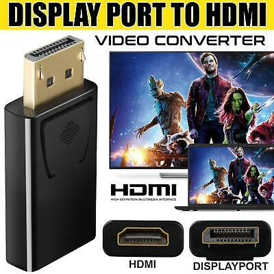 Display Port DP Male To HDMI Female Flat Adapter Connector Converter For HDTV PC • 3.59£