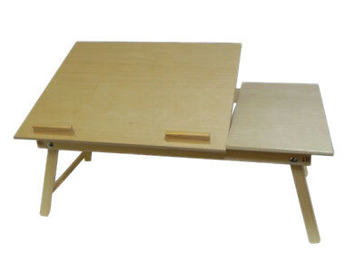 Bed Laptop Stand - Fordable Desk Notebook Table Bed Tray Wooden With Legs  • 30.99£
