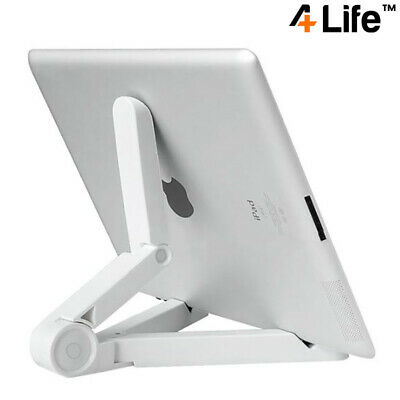 4Life™ Compact Portable Adjustable Tablet Stand For IPad, Galaxy Tab Etc - White • 5.95£