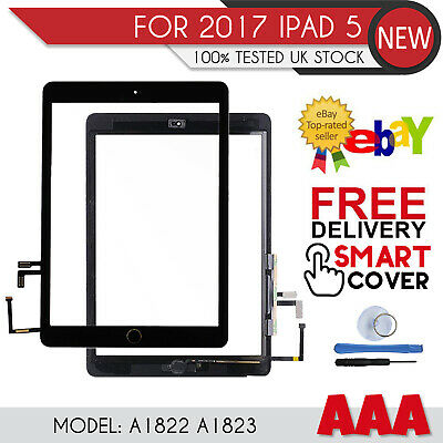 For 2017 IPad 5th Generation 9.7  A1822 A1823 Digitizer Screen Replacement Black • 19.29£